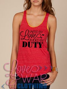 By far the best military wife/girlfriend/family member clothing website! Clothes are so cute and customizable! http://www.loveandwarclothing.com/