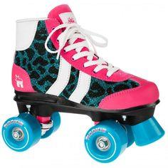 Rookie Retro Blue Glitter Quad Roller Skates