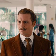 Johnny Depp - Mortdecai gif cuteness