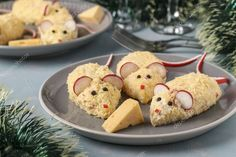 Festive snack Mices for 2020 of cheese, eggs and crab sticks, Symbolic food for , #AFF, #cheese, #Mices, #Festive, #snack #AD Superfood, Mayonnaise, Crab Stick, Muffin, Eggs, Pudding, Cheese, Snacks, Cookies