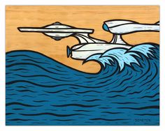 Enterprise Wave by Brian Demeter, signed 8X10 print, donated by the artist