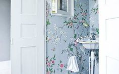 Interiors: A flowery wallpaper in the downstairs cloakroom