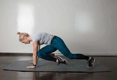 6. Cross Body Climber #abs #bodyweight #workout http://greatist.com/move/best-exercises-lower-abs