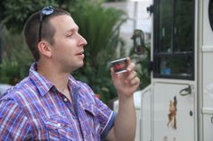 Fan enjoying Barbera Italian coffee.