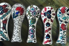 Ceramic Spoons, Spoon Rest, Tiles, Clay, China, Design, Fashion, Spoons, Peruvian Art