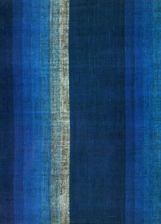 / end of Japanese Edo period / Graduating shaded stripe textile, Plain weave cotton / Knoxville Museum of Art, Textile Prints, Textile Patterns, Textile Art, Color Patterns, Paint Patterns, Mood Indigo, Indigo Blue, Art Japonais, Japanese Textiles