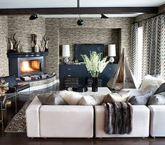 Peek Inside Kourtney Kardashian's Home - The Family Room from #InStyle