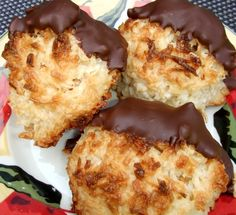 Coconut Macaroons: BEST EVER! Only make 1/2 the recipe if you use a kitchen aid mixer, otherwise it will rise up out of the bowl! Don't forget to use the large bags of coconut!