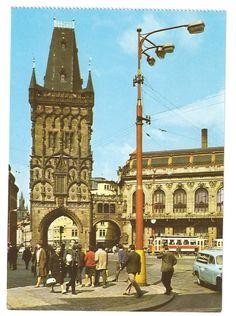 Prague, Powder Tower and Municipal House by Dalibor Kusák, 70's
