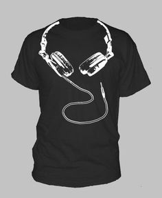 DJ+HEADPHONES+TSHIRT++hip+hop+dance+house+techno+by+HotterTopic,+$14.99