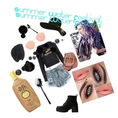 """""""Summer Water Festival Throwback"""" by barbie-boom ❤ liked on Polyvore featuring Lipstik, Billabong, Laundromat, Black Rivet, Ray-Ban and Sun Bum"""