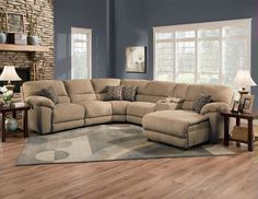 Lane Furniture Robert reclining sectional sofa with chaise and sleeper best 4 piece recliner sectional sofa 4 piece sectional sofa with chaise 2018 Sectional Sofa With Recliner, Reclining Sectional, Living Room Sectional, New Living Room, Home And Living, Living Room Decor, Recliners, Dining Room, Howell Furniture