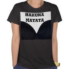 Vintage Black Hakuna Matata Designer Bra Tshirt