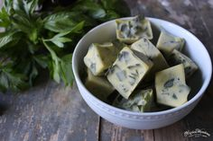 Freezing Fresh Herbs - works great for rosemary. I put it in the bottom of muffin tins and just barely covered the chopped rosemary with olive oil so the finished product were disks about 1/8in thick with about 1.5-2T rosemary in each