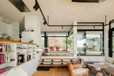 This Modern Home in Beautiful Resort Town is Inspired by Midcentury Design Sunken living room inside the Torekov House Sunken Living Room, Living Area, Foyers, Belle Villa, Farmhouse Style Kitchen, Mid Century Design, Scandinavian Design, House Design, Interior Design