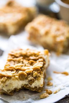 Oatmeal Crumble Peanut Butter Cheesecake Squares | Community Post: 15 Of The Very Best Ways To Eat Peanut Butter For Dessert