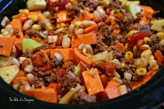 Crock Pot Harvest Chipotle Chili | #Recipe via The Wife of a Dairyman