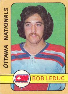 Bob Leduc rookie card. 1972-73 O-Pee-Chee 322. Ottawa Nationals of the World Hockey Association.