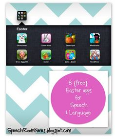 8 Easter Apps for the Speech Room - -  Pinned by @PediaStaff – Please Visit http://ht.ly/63sNt for all our pediatric therapy pins