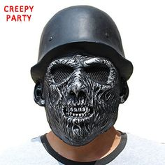 Halloween Scary Skull Mask Realistic Zombie Hat Breathable Latex Mask Adults Full Face Fancy Dress Party Masks Cosplay Costume