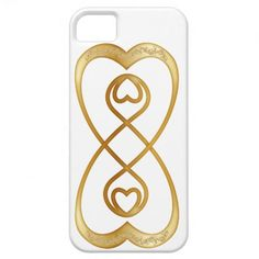 Double Infinity Hearts in Gold - iPhone iPhone 5 Cases  #doubleinfinity #hearts #iPhone