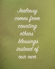 Jealous, a natural feeling