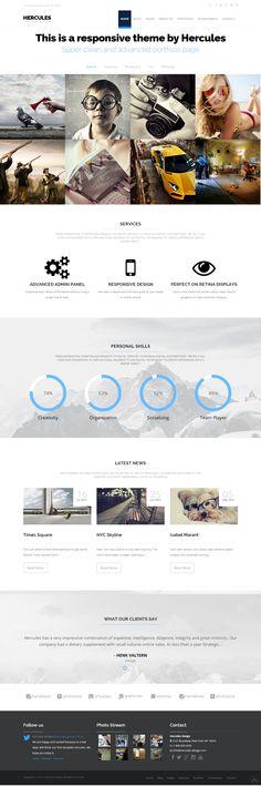Hercules Portfolio Business WordPress Theme by Experthemes.deviantart.com on @deviantART