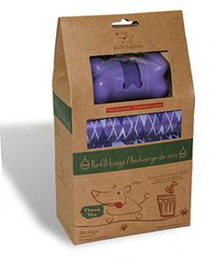 Best Pet Supplies Inc Scented Refill RollsPoop Bags with FREE Dispenser  Argyle Purple 240 Bags -- Want additional info? Click on the image.