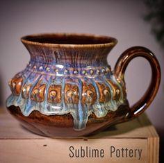 Goddess Mug by Amanda Joy Wells of Sublime Pottery. It reminds me of the Goddess Artemis. Contemporary Ceramics, Artemis, Mug Cup, Wells, Ceramic Pottery, Glaze, Amanda, Cups, My Arts
