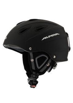 Skihelm, schwarz-matt, 61-64 cm, Alpina, »Grap«. Leichtgewichtiger Helm mit super Ausstattung  Testsieger ADAC 10/2009: »Mit den besten Allround-Eigenschaften und der Note 1,8 sicherte sich der ALPINA Grap den Gesamtsieg« Ausstattung: RUN SYSTEM: Dieses Verstellsystem von ALPINA ist mittlerweile ein Klassiker, der permanent optimiert wird. Mit einer Hand kann mittels Komfort-Drehknopf der Helm ...