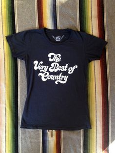 The Very Best Of Country Women's Vintage Tee Black/White