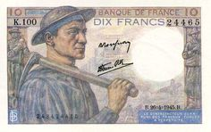 Collection Billet Banque de France - F.8 - 10 francs Mineur