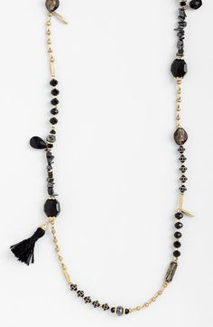 Sara Bella Extra Long Bead Necklace available at #Nordstrom