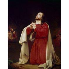 Christ in Gethsemane by Christoffer W Eckersberg (1783-1853) Canvas Art - Christoffer W Eckersberg (18 x 24)
