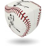 Baseball - V-CUBE 2 Pillow  For all baseball fans and for everyone who wants to have a smarter version of a baseball ball on his desk, this is the perfect cube. The V-CUBE 2 pillow is used for this cube and gives the impression of an actual baseball ball!