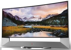 LG Electronics is set to unveil the world's first aspect ratio Curved Screen Ultra HD TV, the at the 2014 CES in Las Vegas. This awe-inspiring TV promises an amazing picture quality and a wide Lg 4k, Led, Gadget Magazine, Curved Tvs, 4k Ultra Hd Tvs, Av Receiver, Sunset Canvas, Lg Electronics, Mountain Sunset