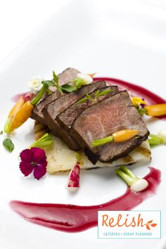 Lacquered Beef from Relish Catering + Event Planning- www.relishcaterers.com