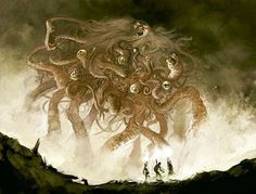 "Horror art inspired by H. Lovecraft's ""The Dunwich Horror"". Hp Lovecraft, Lovecraft Cthulhu, Cthulhu Art, Call Of Cthulhu, Arte Horror, Horror Art, Dark Fantasy, Fantasy Art, The Dunwich Horror"
