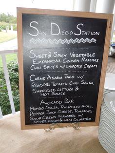 Creative Food Stations at Weddings Asada Tacos, Chili Spices, Creamed Onions, Wedding Photos, Wedding Ideas, Food Stations, Mango Salsa, Carne Asada, Roasted Tomatoes