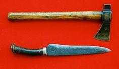 Longknife and Belt Axe, by Todd Daggett.