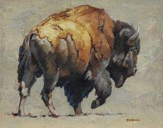 Buffalo by Mark McKenna Wildlife Paintings, Wildlife Art, Animal Paintings, Animal Drawings, Buffalo Painting, Buffalo Art, Art Watercolor, Watercolor Animals, Yorky