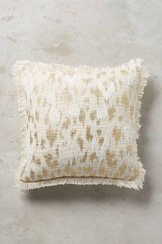 Anthropologie Foil & Fringe Pillow
