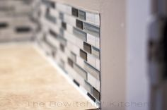 tile stickers that allow you to update backsplash without demolition Home Automation System, Smart Home Automation, Home Renovation, Home Remodeling, Smart Tiles Backsplash, Trailer Remodel, Up House, Remodeled Campers, Diy Bed