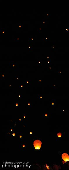 Cayman Islands Wedding Lantern release in the Caribbean night sky