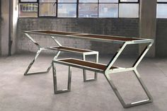 Arrow Table and Bench by Christopher Duffy