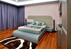 #bedframe #bedpanel #cushion #curve #round #sidecabinet #woodwork #bedroom #design #custommade #goldencarpentry #malaysia