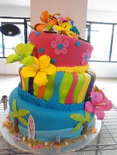 Aloha!!! luau cake