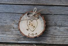 Wood Ring Holder Rustic Wedding Alternative to by postscripts