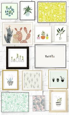 14 FREE gorgeous plant artwork scenes for you to print, frame or hang! (Diy Crafts For Apartment) Free Printable Art, Free Printables, Art Diy, Deco Originale, Free Plants, Plant Art, Home And Deco, Cheap Home Decor, Wall Prints