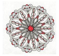 Red Black-n-White Mandala
